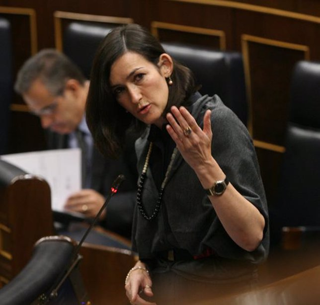 La ministra de cultura Ángeles González-Sinde en el Congreso