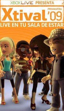 Cartel del festival de entretenimiento de Xbox 360 Xtival 09