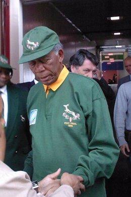 Morgan Freeman es Nelson Mandela