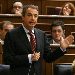 Zapatero, en el Congreso de los Diputados