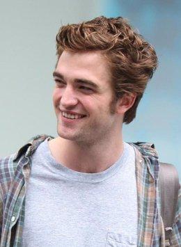 Robert Pattinson en el rodaje de 'Remeber Me'