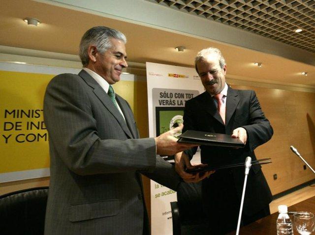 Francisco Ros y Manuel Campo Vidal