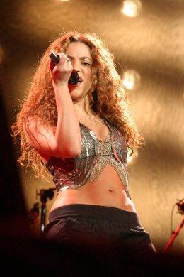 Shakira en el concierto de Granada