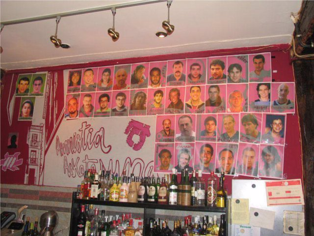 Fotos de presos de ETA en Bilbao