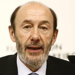 Ministro de Interiore, Alfredo Pérez Rubalcaba