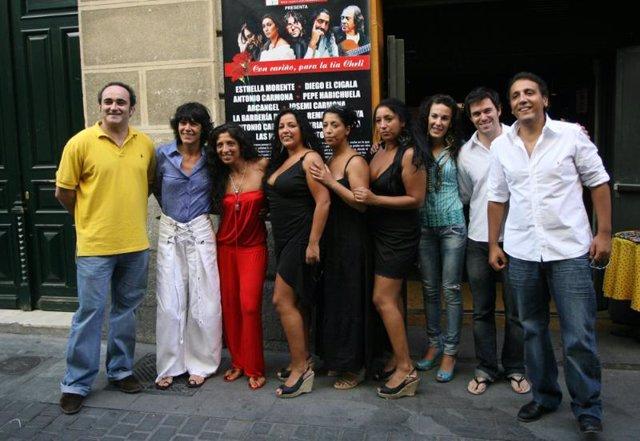 La familia del flamenco rinde homenaje a la tía Cheli