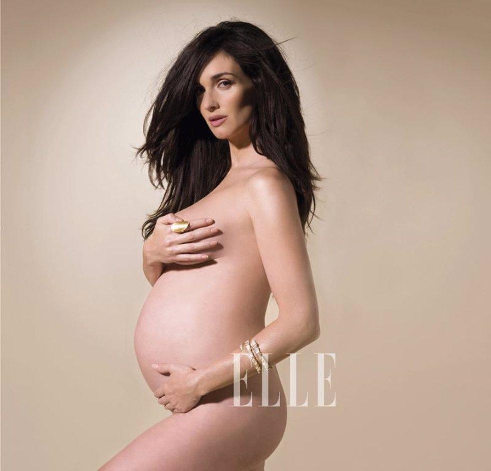 Paz Vega posa embarazada en la revista 'Elle'
