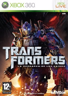 Portada del videojuego de Transformers: la venganza de los caídos
