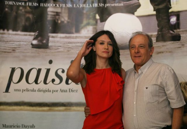 Emilio Gutiérrez Caba y María Botto en la presentación de 'Paisito' de Ana Díez