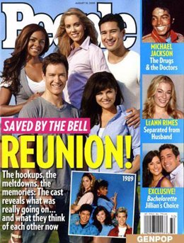 Portada revista 'People' 'Saved by the bell'