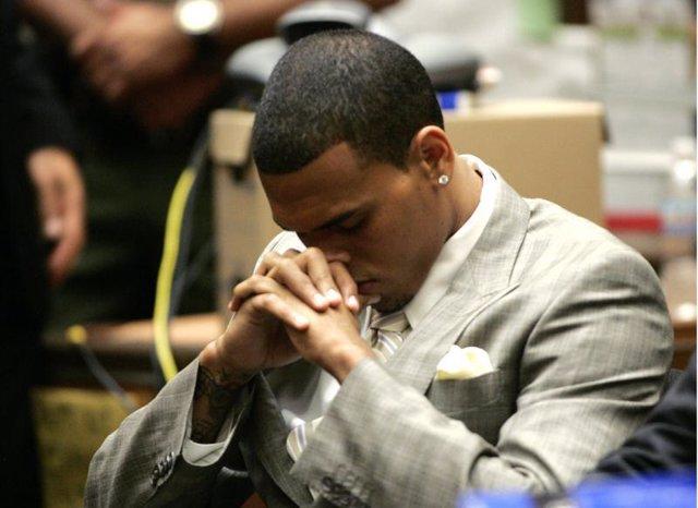 Chris Brown en el juicio