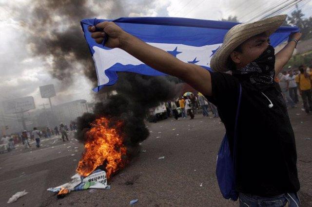 Manifestación de Honduras tras golpe de estado