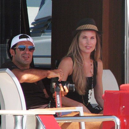 Helen Svedin y Luis Figo, de vacaciones en Ibiza
