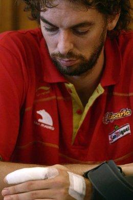 RDP de Pau Gasol tras la lesión de dedo