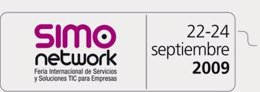 Cartel de SIMO Network 2009 en la web de la feria