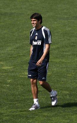 Kaká en el entrenamiento del Real Madrid