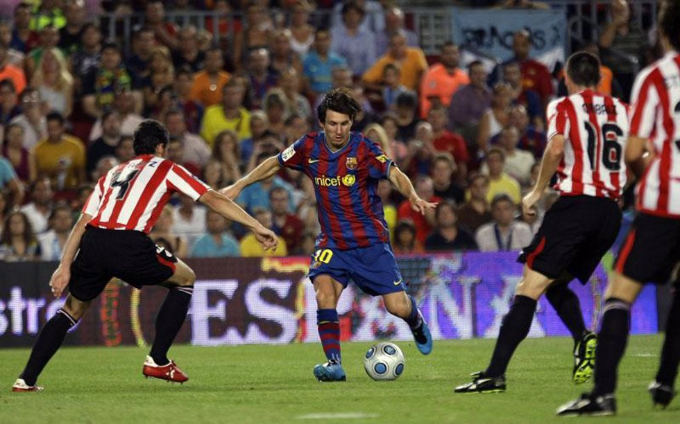 Leo Messi. Supercopa