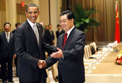 Obama aclara ante Hu Jintao que trabajará en aras del libre comercio
