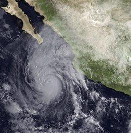 Huracán Jimena visto desde satélite