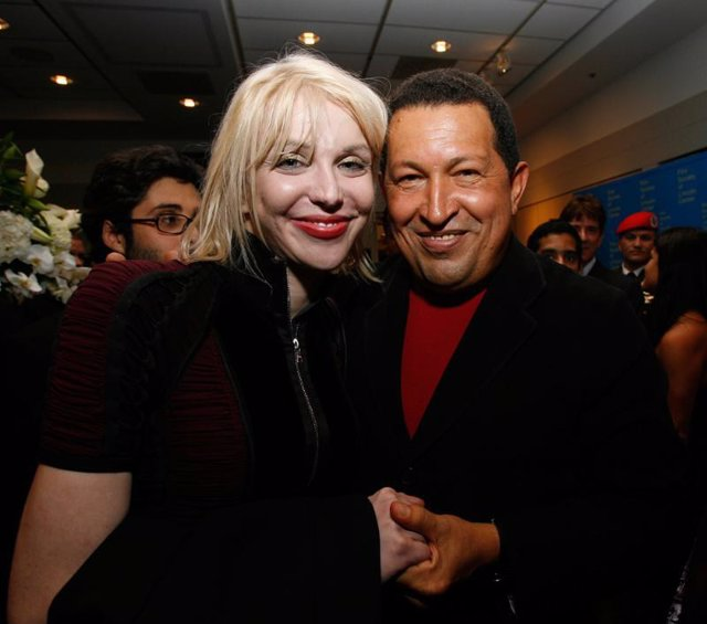 Courtney Love y Hugo Chávez, juntos en Nueva York