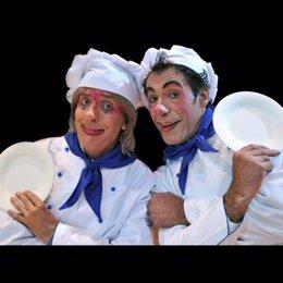 Lalo y Carletto payasos del Circo Mundial