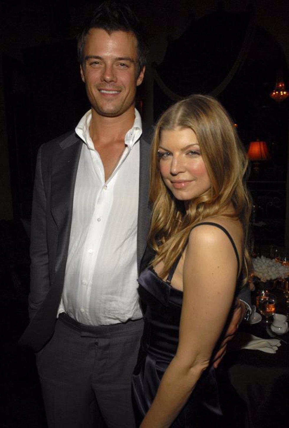 El actor Josh Duhamel y la cantante Fergie
