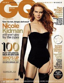 La actriz Nicole Kidman, portada de la revista GQ