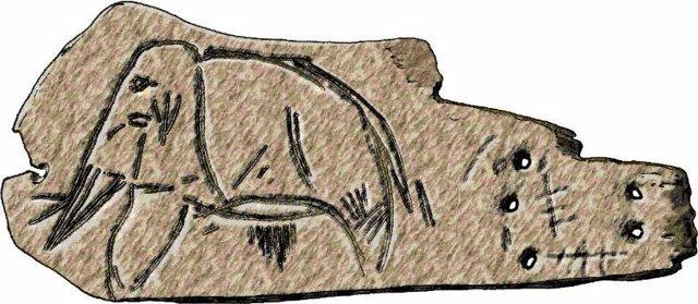 Mamut, rupestre