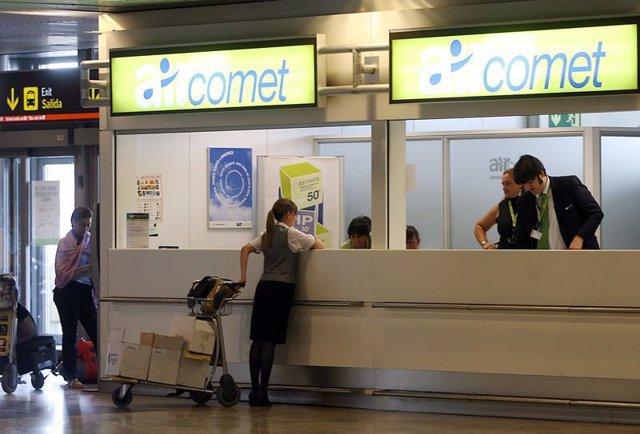 Ventanilla de Air Comet