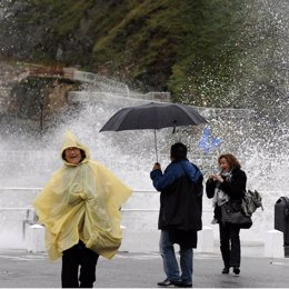 Viento y lluvia en España