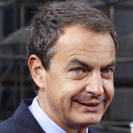 Primer plano de Zapatero en Bruselas