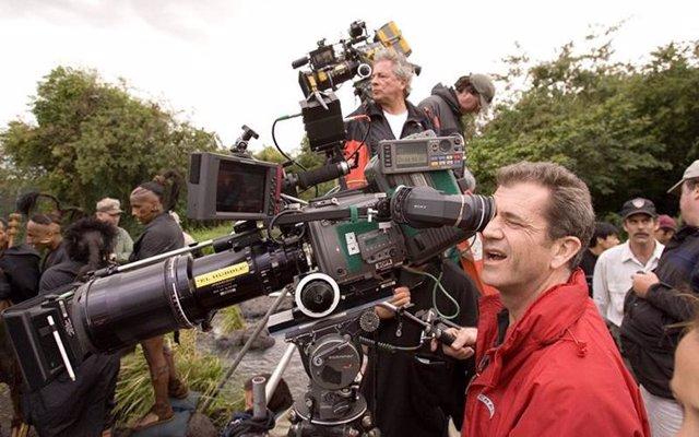 Mel Gibson en el rodaje de Apocalypto