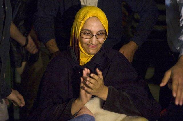 La activista Aminetu Haidar regresa a El Aaiún