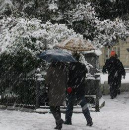 Nieve, temporal, nevada
