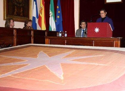 Presentada la restauración del Estandarte símbolo de Carmona realizada por el IAPH