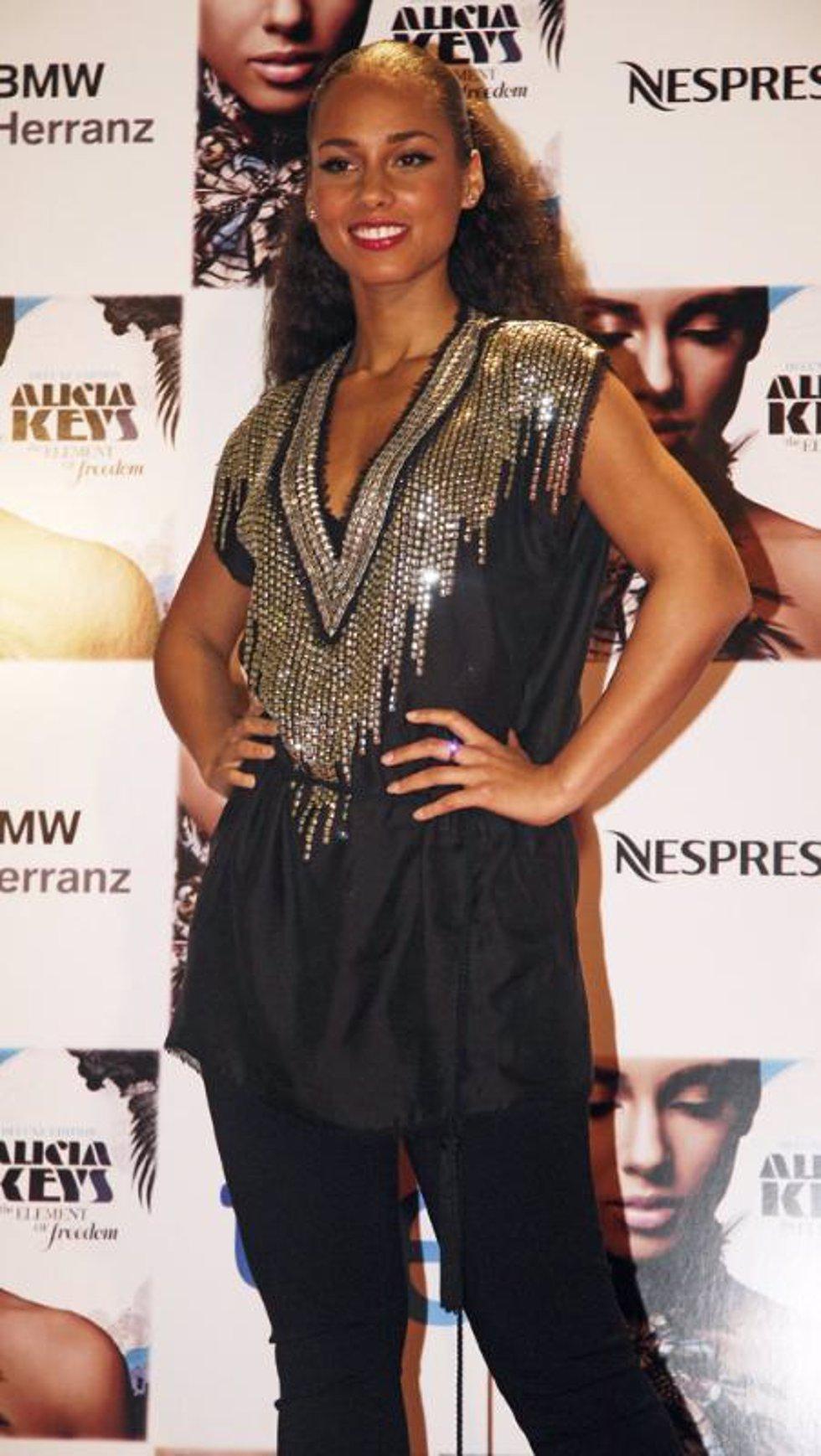 La cantante Alicia Keys en su concierto en el Teatro Real de Madrid