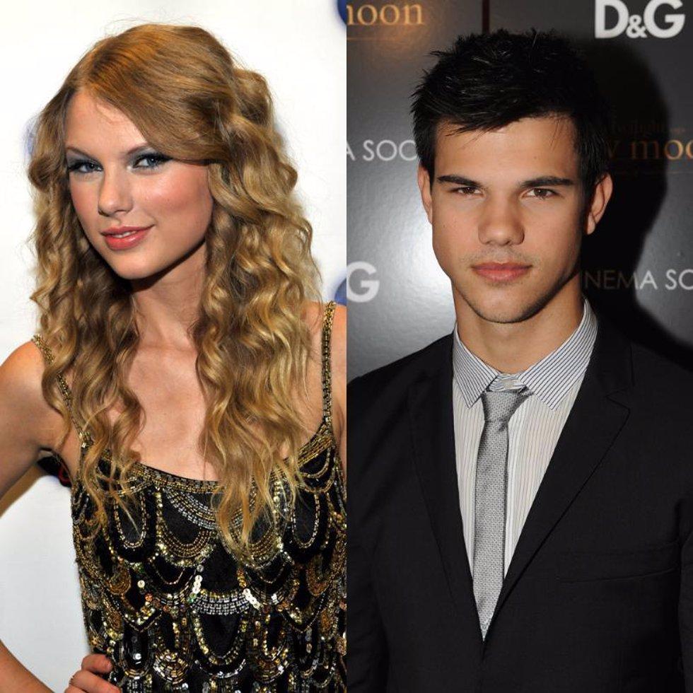 La cantante Taylor Swift y el actor Taylor Lautner