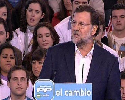 """Rajoy: """"Cuanto más tiempo sea presidente Zapatero, peor será para España"""""""