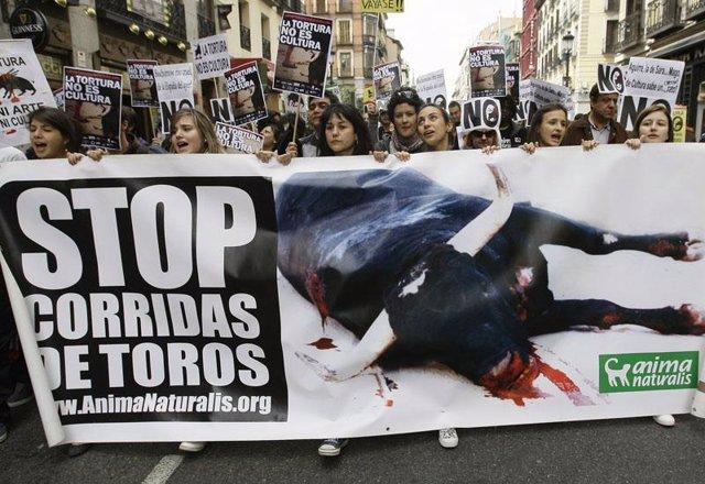 Manifestación Contra Los Toros