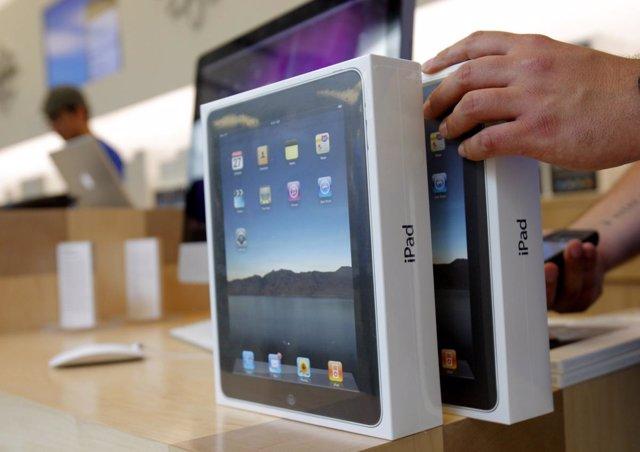 Tablet iPad de Apple en las tiendas