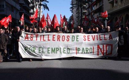 Los trabajadores de astilleros se manifiestan hoy contra el ERTE y harán acciones martes y jueves
