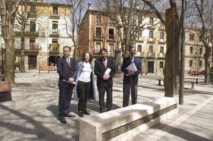 Una estructura de acero identificará los cuatro hitos del Camino de Santiago en Navarra