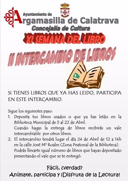 El Ayuntamiento de Argamasilla de Calatrava (Ciudad Real) organiza un intercambio de libros durante la Semana del Libro