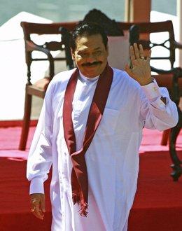 El presidente de Sri Lanka, Mahinda Rajapaksa