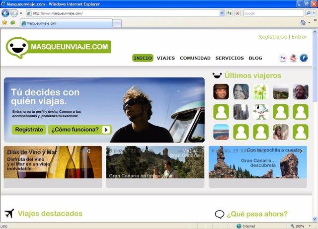 Página Principal De Masqueunviaje.Com