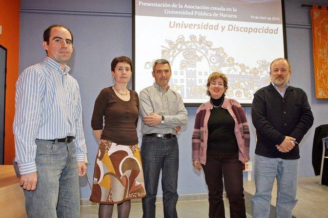 La UPNA Acogió La Presentación De La Asociación Universidad Y Discapacidad.