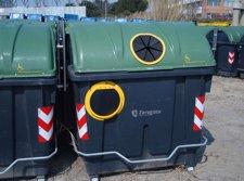Contenedor de basuras que están comenzando a utilizar en Zaragoza