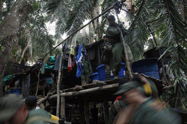 Laboratorio de cocaína en Venezuela