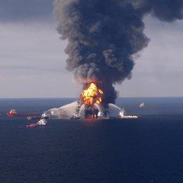 Plataforma de petróleo golfo de méxico