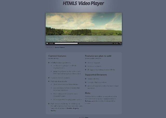 Reproductor multimedia online en HTML5